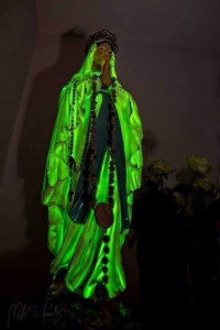 glowing statue