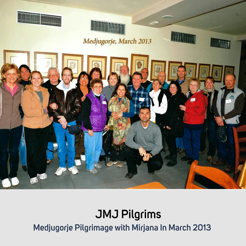 JMJ Pilgrims in March 2013 Medjugorje
