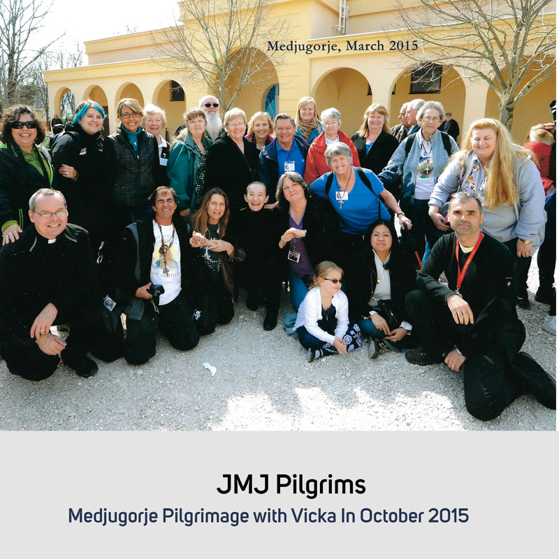 JMJ Pilgrims in October 2015 Medjugorje with Vicka