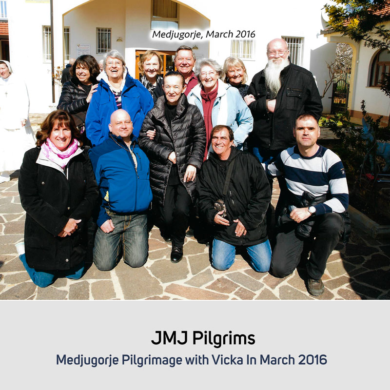 JMJ Pilgrims in October 2016 Medjugorje with Vicka in March