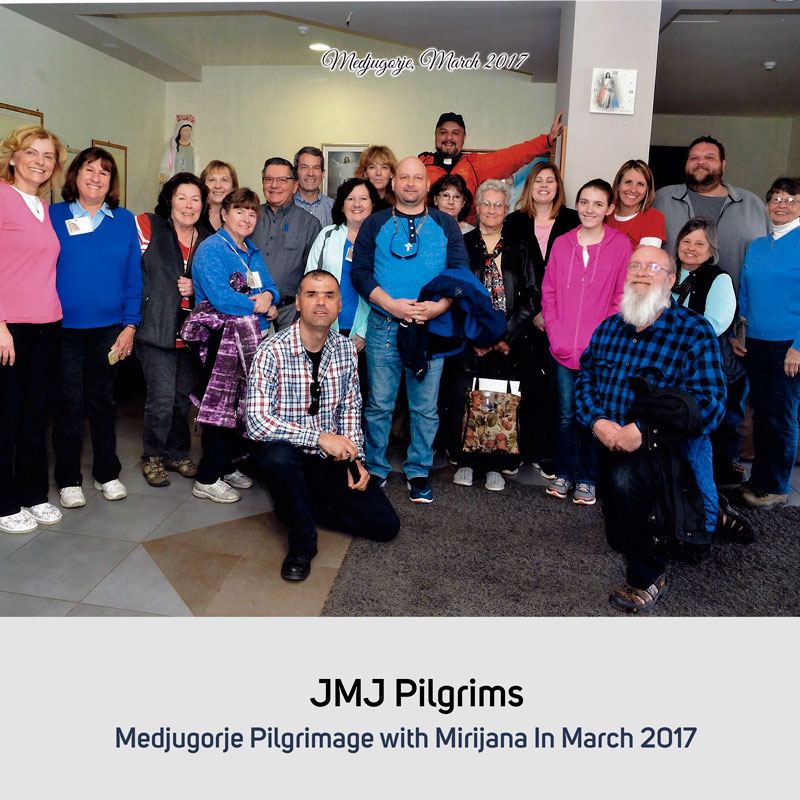 JMJ Pilgrims in October 2017 Medjugorje with Mirjana in March