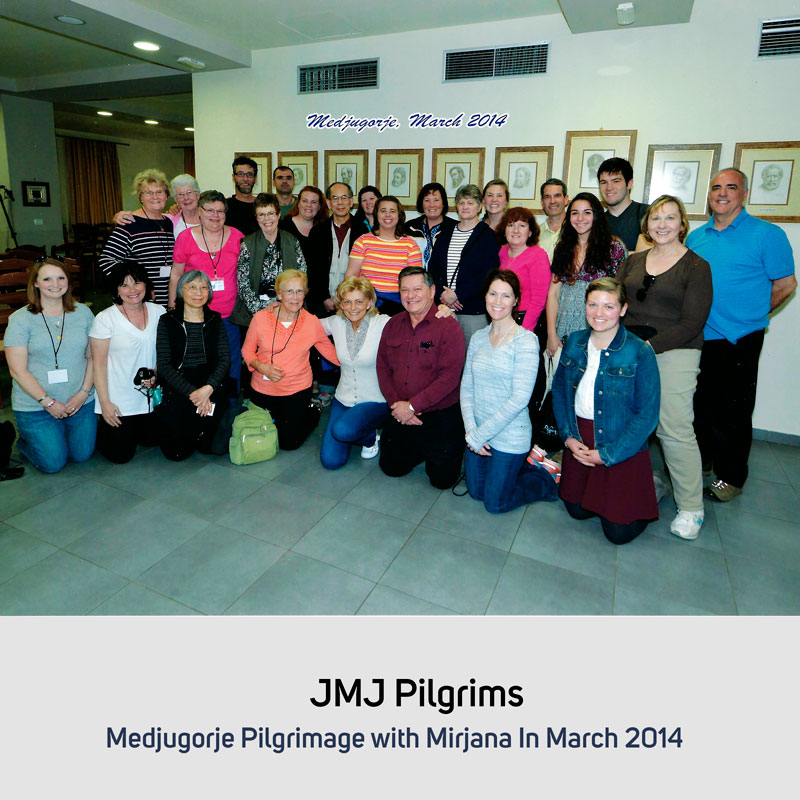 JMJ Pilgrims in March 2014 Medjugorje
