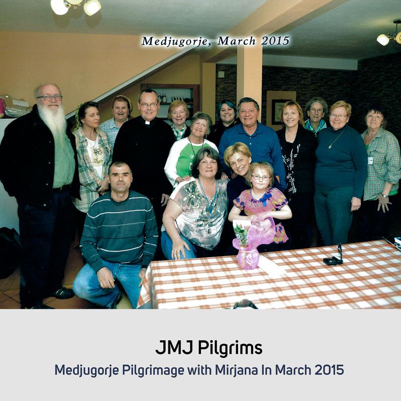 JMJ Pilgrims in March 2015 Medjugorje