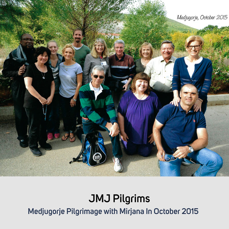 JMJ Pilgrims in October 2015 Medjugorje
