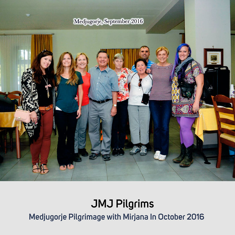 JMJ Pilgrims in October 2016 Medjugorje with Mirjana