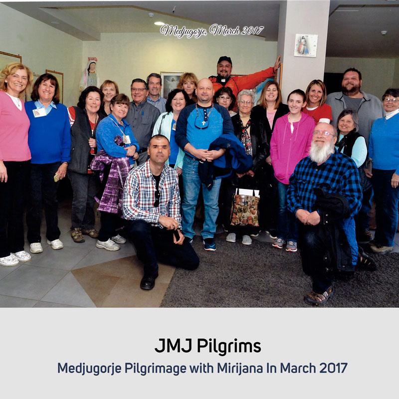 JMJ Pilgrims in October 2017 Medjugorje with Mirjana in March